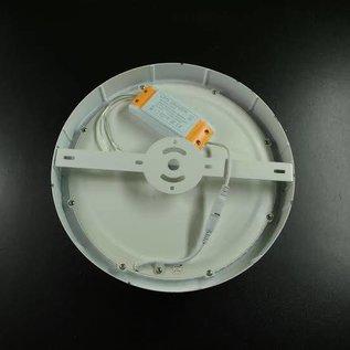 Plafonniere 18 W rond 17 cm wit metalen frame warm wit licht