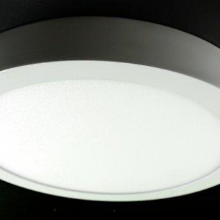 Plafonniere 18 W rond 22,5 cm wit metalen frame warm wit licht