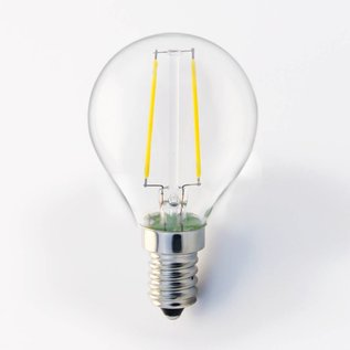 Filament 2 w kleine bol E14 G45 3000K warm wit