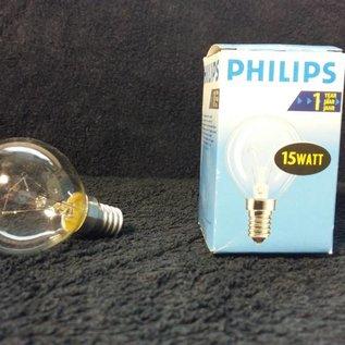 Philips Gloeilamp E14 15W helder wit Philips P45 kleine fitting