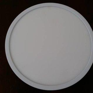 Plafondlamp.Plafonniere luxe witmetaal smalle rand 18W witkelur 4000K normaal wit