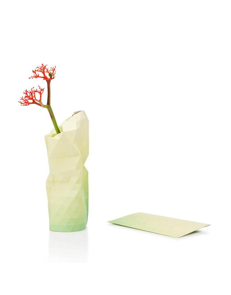 Paper Vase Cover Yellow Tones (small)