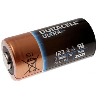 Duracell CR123A lithium batterij