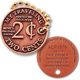 Coins and Pins Micro coin - Mijn reizende 2 cent