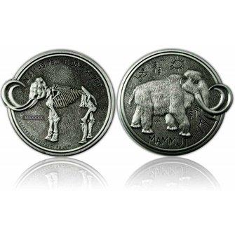 CacheQuarter Mammoet Geocoin - Antiek zilver