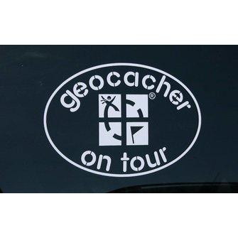 CacheQuarter Decal sticker Geocacher on Tour