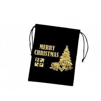 CacheQuarter Velours cadeau zakje: Merry Christmas