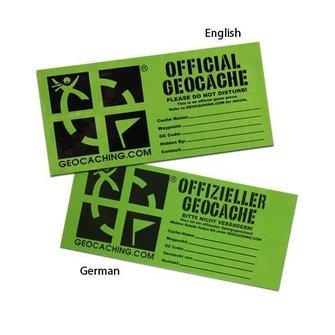 Groundspeak Groundspeak Cache label - small