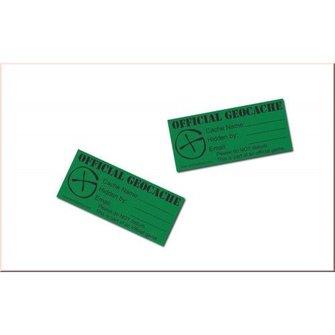 CacheQuarter Cache label - small