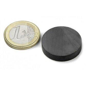 Supermagnete Ferriet schijfmagneet - 25 mm