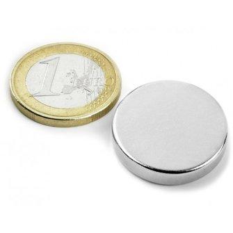 Supermagnete Neodymium schijfmagneet - 25 mm