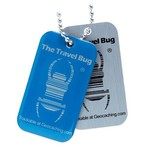 Groundspeak Travel Bug QR Tag - blauw