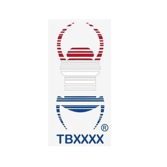 CacheQuarter Statische sticker Travel Bug - GROOT (rood-wit-blauw)