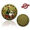 CacheQuarter Kerstmis geocoin Sneeuwpop  - satijn goud XLE