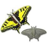 CacheQuarter Vlinder geocoin Koninginnenpage - satijn zilver