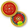 Coins and Pins Geocoin PI dag 14 maart - gepolijst goud