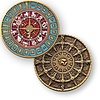 Coins and Pins Time and Space geocoin - brons