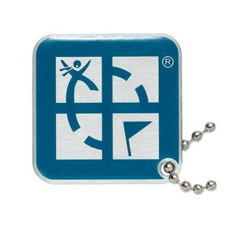 Groundspeak Geocaching Logo tag - blauw