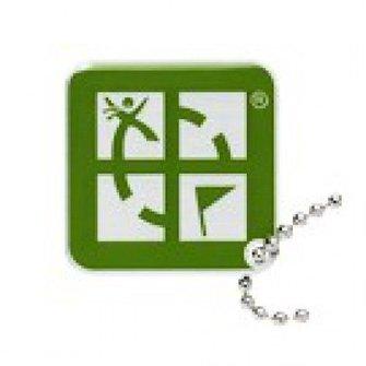 Groundspeak Geocaching Logo tag - groen
