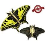CacheQuarter Vlinder geocoin Koninginnenpage - antiek goud XLE