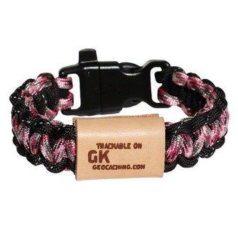 Geo Knots Trackable survival armband - roze