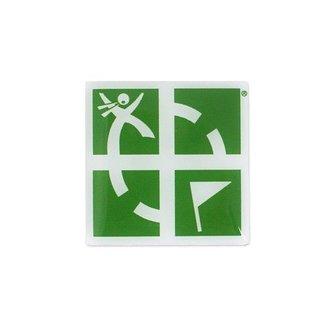 Groundspeak Logo pin - groen