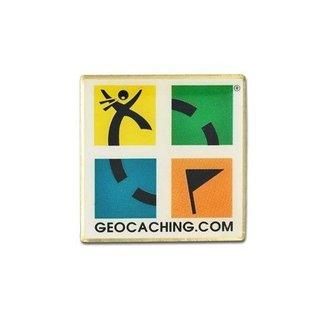 Groundspeak Logo pin - retro editie, in kleur