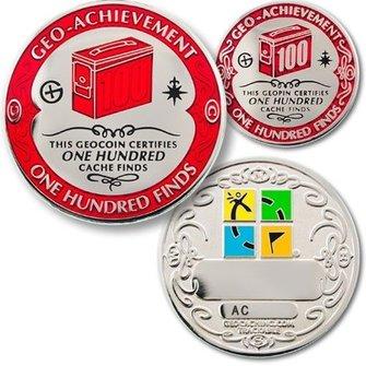 Coins and Pins Geo-Prestatie set 100 finds