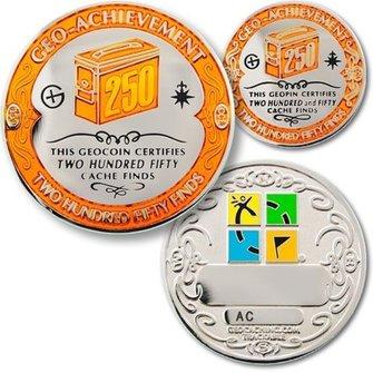 Coins and Pins Geo-Prestatie set 250 finds