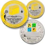 Coins and Pins Geo-Prestatie set 500 finds