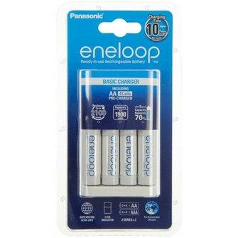 Panasonic Eneloop langlader MQN04 met 4 AA 2000mAh batterijen