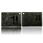 CacheQuarter Official geocacher Plaque - zwart nikkel