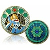 CacheQuarter 4 Seizoenen coin Winter - antiek goud