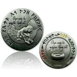 CacheQuarter Lord of the Caches - Gollum geocoin, antiek zilver