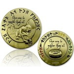 CacheQuarter Lord of the Caches - Gollum geocoin, antiek goud