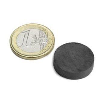 Supermagnete Ferriet schijfmagneet - 20 mm