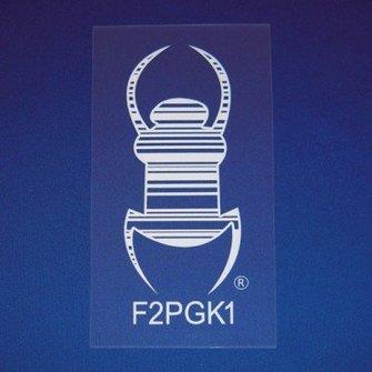 Cache Advance Statische Travel Bug sticker - 3 Inch (wit)