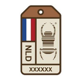 Groundspeak Nieuwe Travel Bug® Origins sticker - Nederland