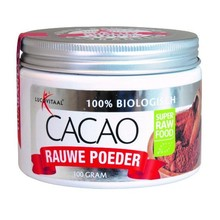 Lucovitaal Super raw food cacao poeder potje Inhoud:100g