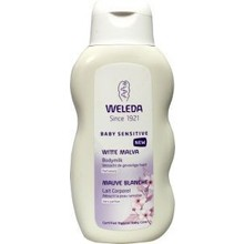 Weleda Weleda Baby witte malva sensitive bodymilk Inhoud:200ml