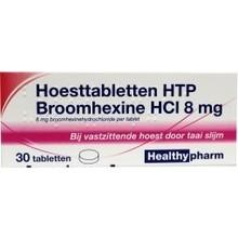 Healthypharm Broomhexine hoest 8mg Inhoud:30tab