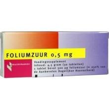Healthypharm Foliumzuur 0.5mg Inhoud:30st