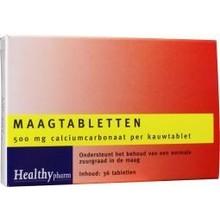 Healthypharm Maagtabletten calcium carbonaat Inhoud:36tab