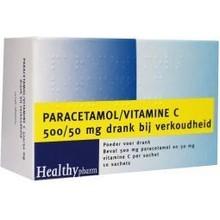Healthypharm Paracetamol & vit C Inhoud:10sach