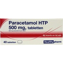 Healthypharm Paracetamol 500mg Inhoud:40tab