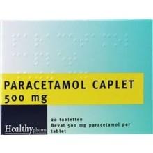 Healthypharm Paracetamol caplet 500 Inhoud:20tab