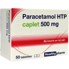 Healthypharm Paracetamol caplet 500 Inhoud:50st