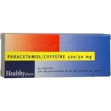 Healthypharm Paracetamol comp 500/50mg coffeine Inhoud:20cap