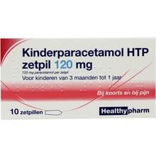 Healthypharm Paracetamol kind 120mg Inhoud:10zp