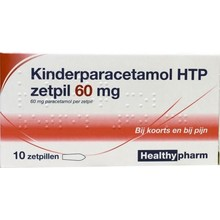 Healthypharm Paracetamol kind 60mg Inhoud:10zp